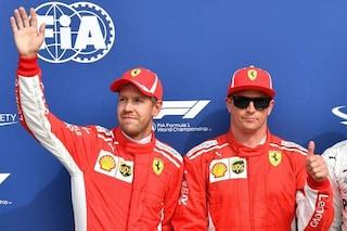 """Raikkonen: """"Fare la pole a Monza è speciale"""". Vettel: """"Fantastico avere due Rosse davanti"""""""