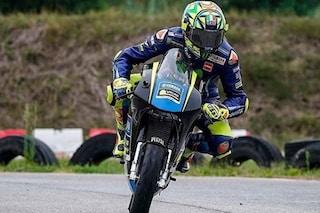 Valentino Rossi in pista al Galliano Park, il Dottore da record anche sulle minimoto