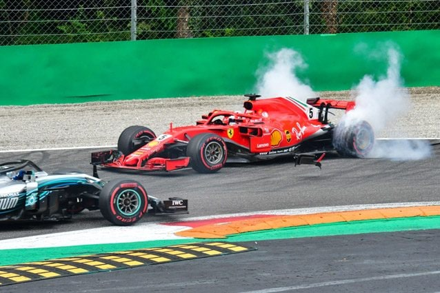 Il testacoda di Vettel a Monza – Getty images