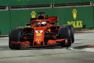 F1 GP Singapore, Prove libere 3: riscatto Vettel, le due Ferrari davanti a tutti
