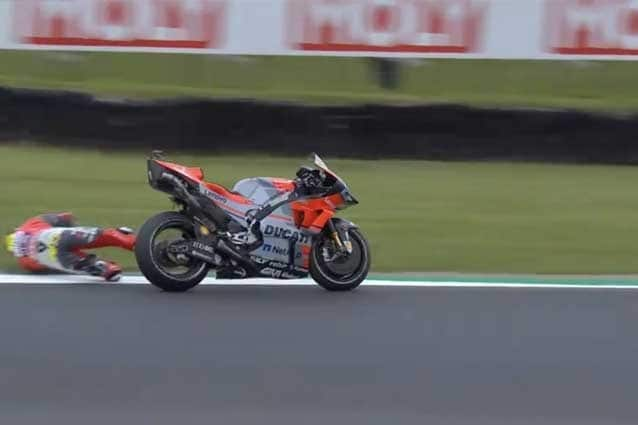 La caduta di Alvaro Bautista alla curva 10 / MotoGP.com