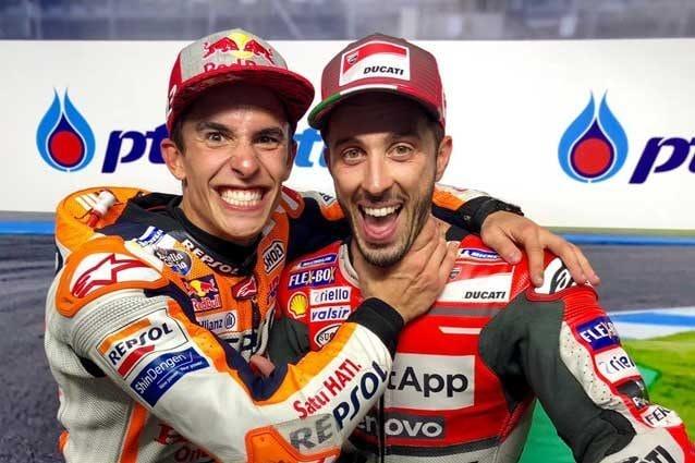 Marc Marquez e Andrea Dovizioso / MotoGP.com
