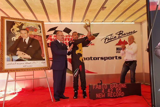 Fabio Barone festeggia il terzo record ottenuto in Marocco