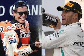 Marquez in MotoGP, Hamilton in F1: le combinazioni del quinto titolo mondiale