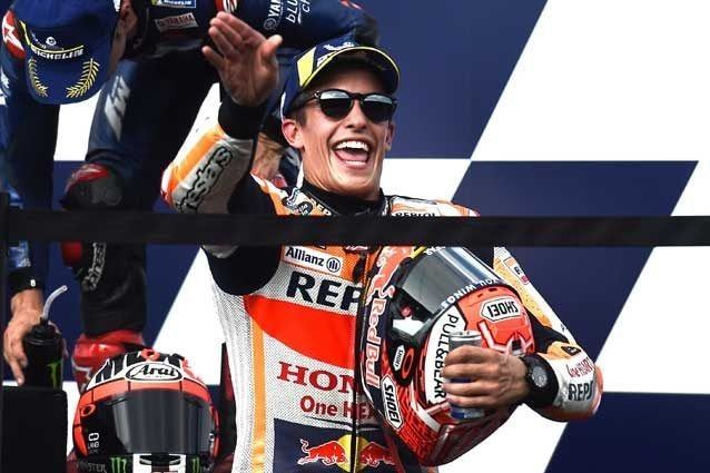 Marc Marquez sul podio di Buriram / Getty Images