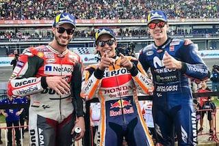 """MotoGP, Marquez: """"Stavolta ce l'ho fatta"""" Dovi: """"Non bello perdere all'ultima curva"""""""