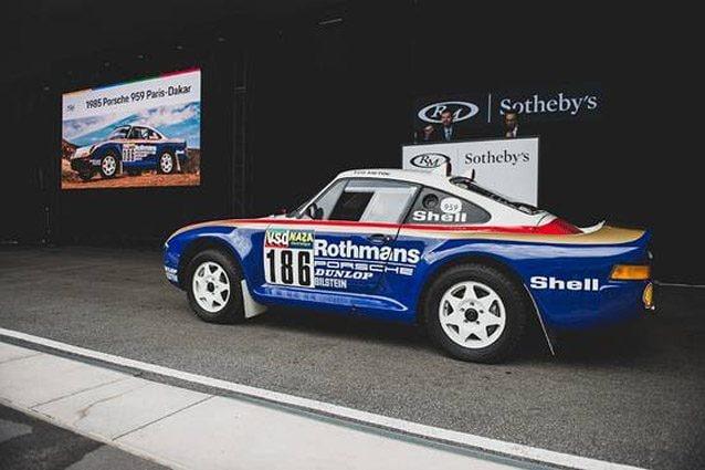 La Porsche 959 che partecipò alla Parigi–Dakar del 1985 – Foto RM Sotheby's