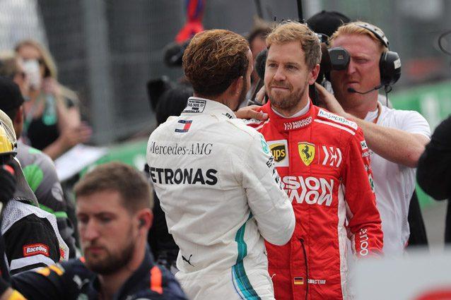 Sebastian Vettel e Lewis Hamilton – LaPresse