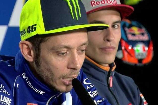 Valentino Rossi e Marc Marquez durante la conferenza stampa pre–evento a Phillip Island /Motogp.com