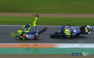 MotoGp Valencia, highside per Valentino Rossi nelle libere 3