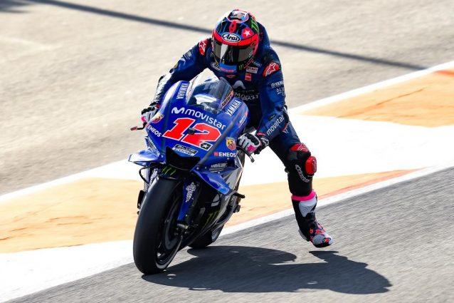 Vinales in pista con il nuovo numero 12 sulla carena / MotoGP.com