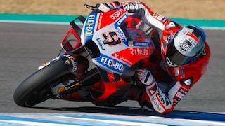 MotoGP test Jerez, Petrucci davanti a Dovizioso. Indietro Rossi