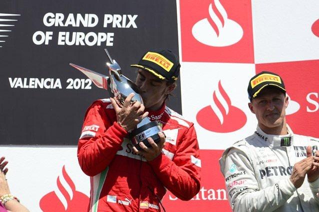 Fernando Alonso con la Ferrari – Getty images