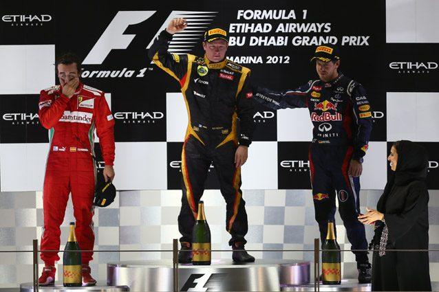 Kimi Raikkonen con la Lotus nel 2012 – Getty images
