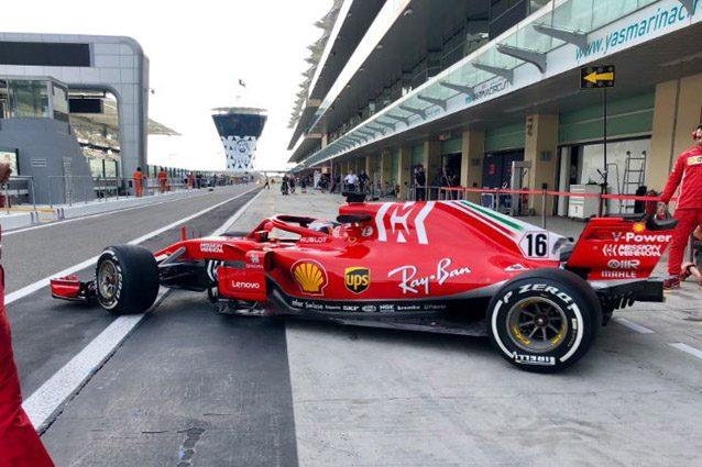 Leclerc al debutto in Ferrari – Foto Twitter
