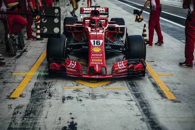 Leclerc sulla Ferrari