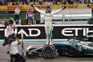 Hamilton chiude in bellezza ad Abu Dhabi, Vettel 2°. Ultima in Ferrari amara per Raikkonen
