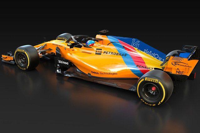 La McLaren con livrea speciale dedicata a Fernando Alonso