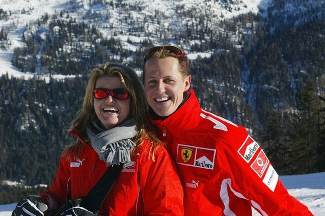 Michael Schumacher con la moglie Corinna – Getty images