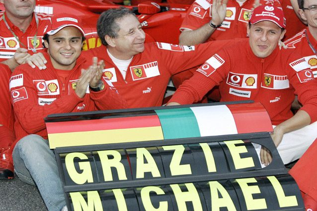 Michael Schumacher dà l'addio alla Formula 1 – Getty images