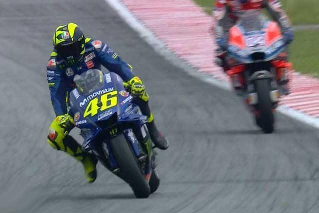Valentino Rossi nelle libere 2 / MotoGP.com
