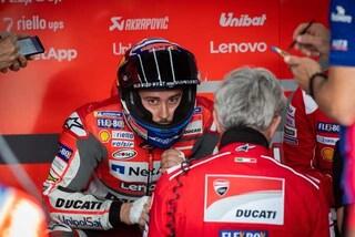MotoGP, Dovizioso non molla: già al lavoro in piscina dopo l'incidente di Silverstone