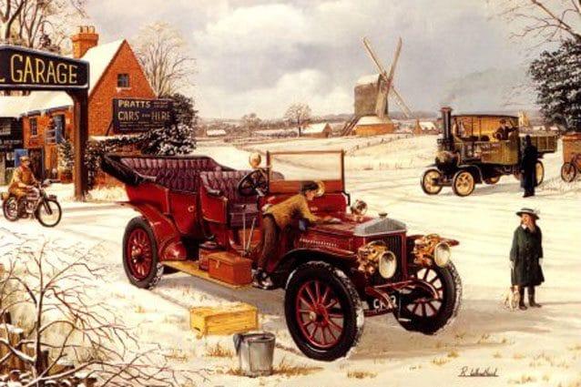 Cartoline di Natale con auto d'epoca – Motorgift