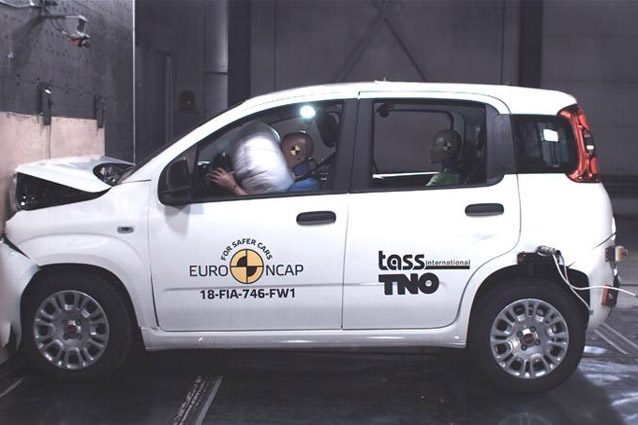 Fiat Panda ai crash test EuroNCAP