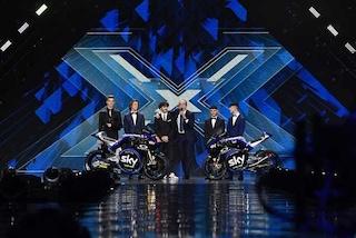 Lo Sky Racing VR46 sul palco di X Factor: ecco le livree 2019 dei team Moto2 e Moto3