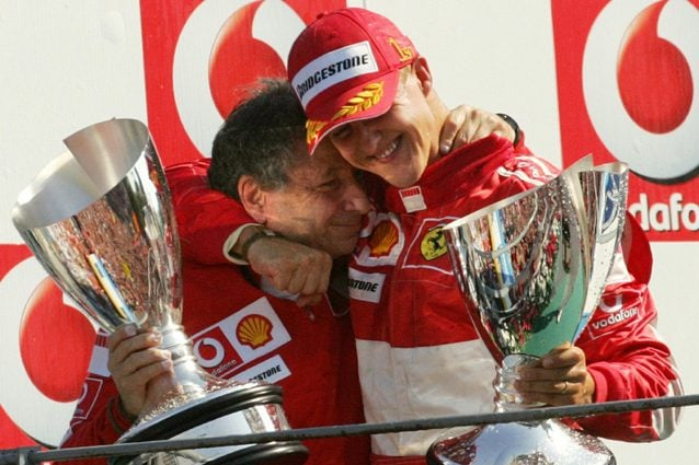 Jean Todt e Michael Schumacher – Getty images