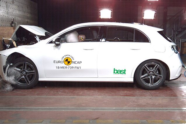 Mercedes Classe A nei crash test Euro NCAP