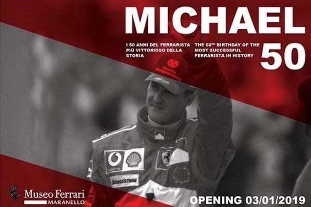 La mostra dedicata a Michael Schumacher aprirà il 3 gennaio 2019