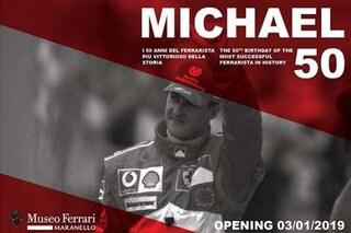 """Ferrari omaggia Schumacher, dal 3 gennaio la mostra """"Michael 50"""" dedicata al campione"""