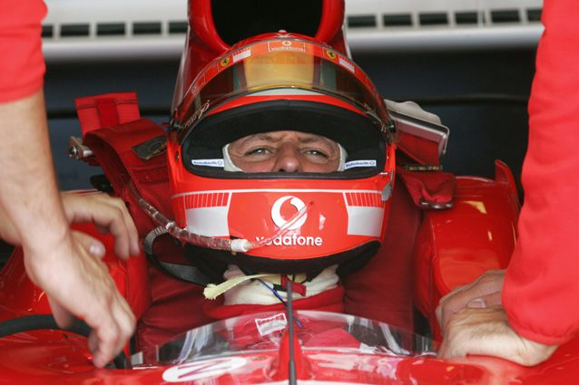 Michael Schumacher al GP Francia 2005 – Getty images