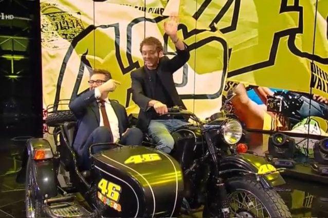 Rossi in sidecar con Fazio / Rai1