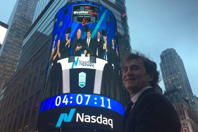 Alex Zarardi alla Borsa di New York