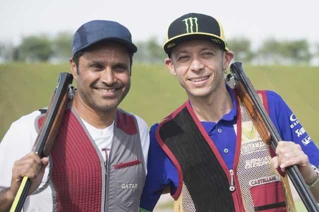 Nasser Al–Attiyah e Valentino Rossi / Getty