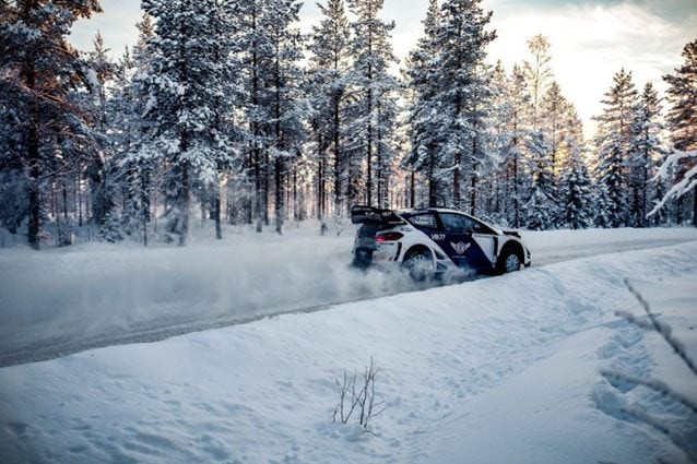 Valtteri Bottas con la Ford Fiesta WRC – Foto Twitter