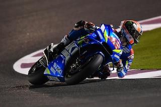 MotoGP test Qatar, Rins al top con la Suzuki, indietro Rossi