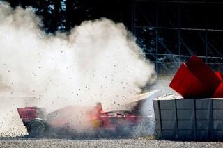 Ferrari, l'incidente di Vettel nei test è dovuto alla rottura del cerchio sinistro della SF90