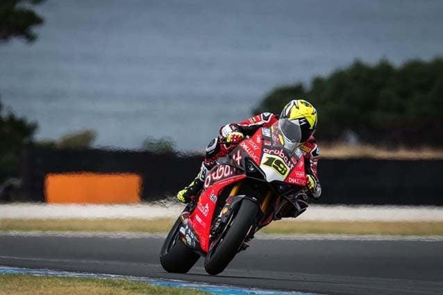 Alvaro Bautista sulla Ducati Panigale V4