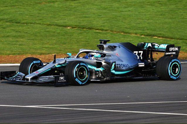 Bottas al volante della nuova Mercedes – Foto Twitter