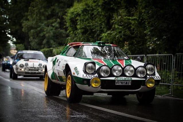 La Lancia Stratos in livrea Alitalia
