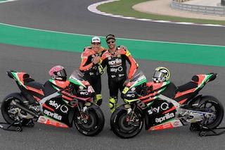 MotoGP, presentata in Qatar l'Aprilia di Iannone ed Espargaró