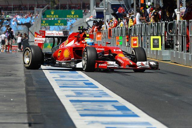 Fernando Alonso con la Ferrari nel 2014 – Getty images