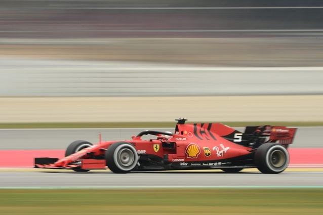 La Ferrari durante i test di Barcellona – Getty images