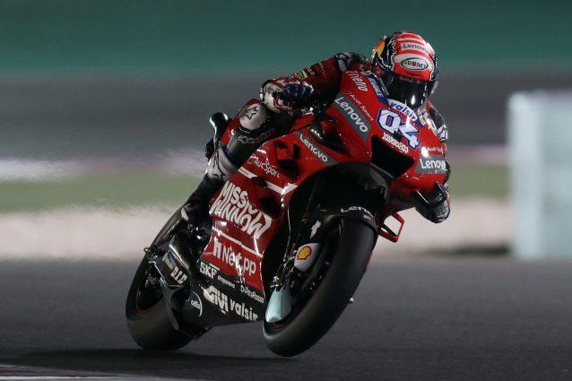 Andrea Dovizioso durante il GP del Qatar / Getty