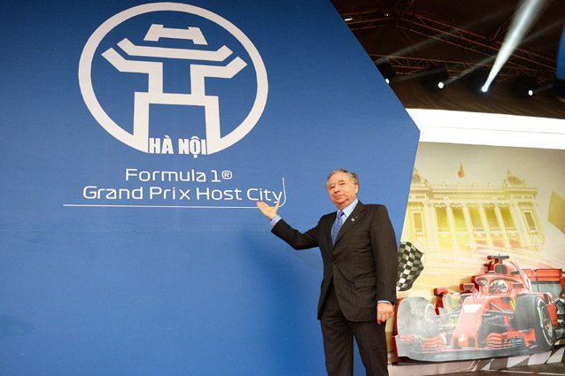 Jean Todt alla cerimonia di inaugurazione del circuito di Hanoi, in Vietnam – Getty images