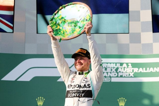 Valtteri Bottas sul podio del GP d'Australia – Getty images