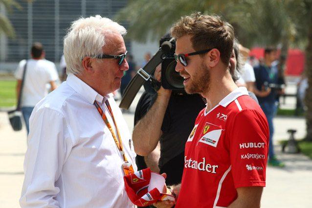 Charlie Whiting e Sebastian Vettel – LaPresse